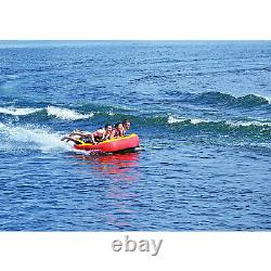 RAVE Sports Diablo III Inflatable 3 Person Rider Towable Boat Water Tube Raft