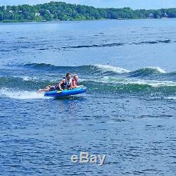 RAVE Sports Inflatable 3 Person Rider Towable Boat Lake Water Tube Razor Raft
