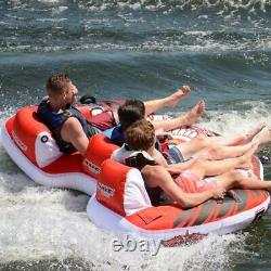 RAVE Sports Towable Tube 3 Boat Inflatable Water Trampoline Warrior Spin Slide