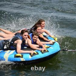 Rave Sports 02325 Mega Storm 4 Rider Inflatable Water Float Towable Boat Tube