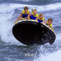 Rave Sports 02408 Mass Frantic 4 Rider Inflatable Water Float Towable Boat Tube