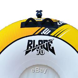 Rave Sports Blade 70 Inch 2 Rider Inflatable Boat Towable Double Water Ski Tube
