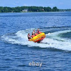 Rave Sports Epic 78 Inch 3 Rider Seated Inflatable Towable Double Water Tube