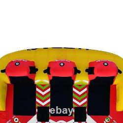 Rave Sports Epic 78 Seated Inflatable Towable Double Water Tube (Open Box)