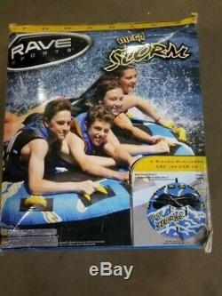 Rave Sports Mega Storm 4 Rider Inflatable Water Float Towable Boat Tube