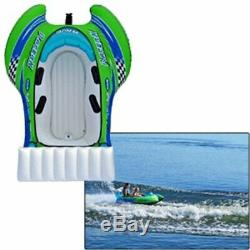 Rave Sports Rave Racer X Inflatable 2 Person Rider Towable Boat Water Tube Raft