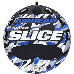 Round Blue Inflatable Towable 3 Rider Lake Swimming Tube Boating Water Float New