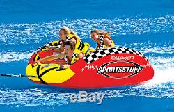 SPORTSSTUFF 53-2160 Half Pipe Frantic Triple Rider Towable Inflatable Water Tube