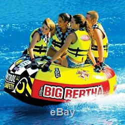 SPORTSSTUFF Big Bertha 53-1329 Towable 1-4 Person Boat Lake Water Sports Tube