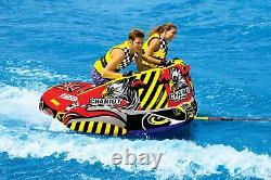 SPORTSSTUFF Chariot Warbird 2 Double Rider Towable Inflatable Water Tube (Used)