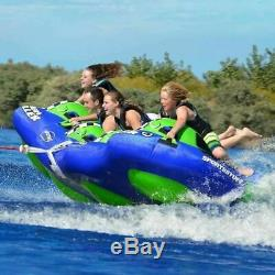 SPORTSSTUFF HIGH ROLLER 4 Inflatable Air Cushioned 4-Rider Towable Water Tubing