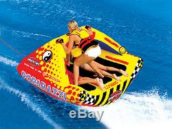 SPORTSSTUFF Poparazzi Triple Rider Inflatable Towable Boat Water Tube (2 Pack)