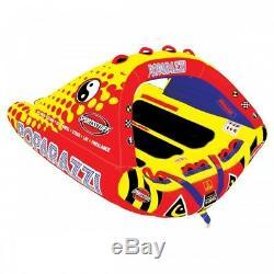 SPORTSSTUFF Poparazzi Triple Rider Inflatable Towable Tube Water Sports 53-1750