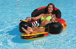 SPORTSSTUFF SIESTA Inflatable Towable Tubes Pool Loungers with Folding Footrest