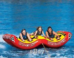 SPORTSSTUFF Wacky Whopper Inflatable Water Tube 3 Rider Boat Towable 53-5153