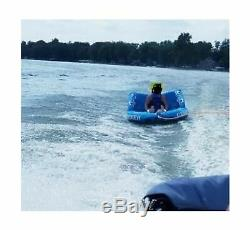 SereneLife Heavy-Duty Inflatable Towable Booster Tube -Three Person Water Tub