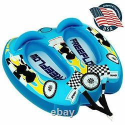 SereneLife SLTOWBL10 2 Person Watersports Inflatable Towable Booster Water Tube