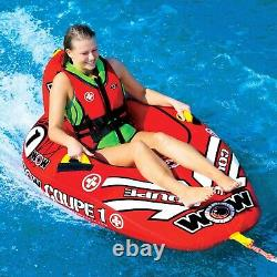Single Rider Lake Boat Towable Tube Water Pulling Tube Coupe Cockpit Inflatable