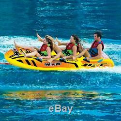 Ski Water Tube Towable Heavy Duty Tube Towable Pulling Boat 3 Rider Inflatable