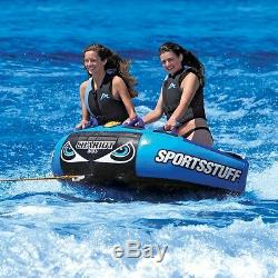 SportsStuff Chariot Duo 2 Rider Inflatable Water Tube Towable & Lounger 53-1982