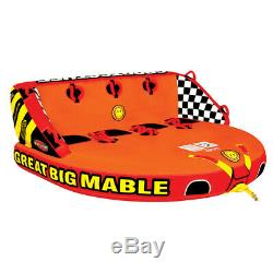 SportsStuff Great Big Mable Inflatable Water Tube Tow Boat Towable 4 Person Lake