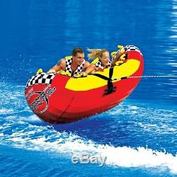 SportsStuff Half Pipe Rampage Inflatable Water 2 Rider Tube Boat Towable 53-2155