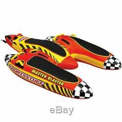 SportsStuff Master Blaster Inflatable Water 3 Rider Tube Boat Towable 53-1831