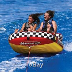 SportsStuff Popa Wheelie Inflatable Water 2 Rider Tube Boat Towable 53-1922