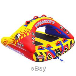 SportsStuff Poparazzi 2 Person Towable Water Tube Inflatable Standind Trick Boat