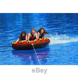 Sportsstuff 53-1661 Frequent Flyer Water Boat Tube Towable 3 Riders Inflatable