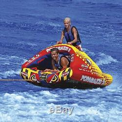 Sportsstuff 53-1752 Poparazzi 2 Water Tube Boat Towable 2 Riders Inflatable