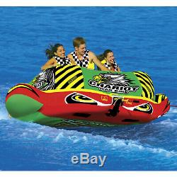 Sportsstuff 53-1790 Chariot Warbird 3 Water Boat Tube Inflatable Towable 3 Rider