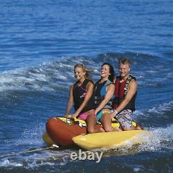 Sportsstuff 53-3060 Hot Dog 3 Inflatable Tube Towable Water Boat Toy Float
