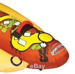 Sportsstuff Hot Dog 2 Person Inflatable Boat Lake Water Towable Tube (2 Pack)