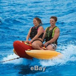 Sportsstuff Hot Dog 2 Person Inflatable Boat Lake Water Towable Tube (3 Pack)