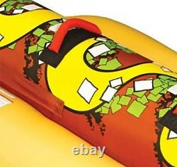 Sportsstuff Hot Dog 2 Person Inflatable Boat Lake Water Towable Tube (Open Box)