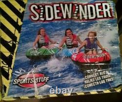 Sportsstuff Sidewinder 3 Rider Inflatable Towable Tube Float Lake Water 3 in 1
