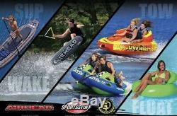 Sportsstuff Super Mable 1-3 Rider Towable Tube for Boating Water Sports New