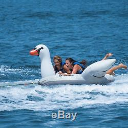 Swimline Solstice Water Sport Inflatable Swan 1 to 2 Rider Boat Towable Tube
