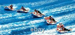 Towable Cockpit Tube Water Ski 2 Person Coupe Inflatable Boat Water Sports Pool