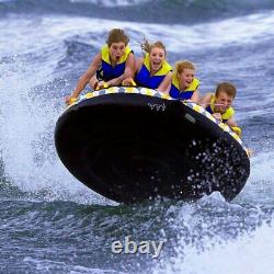 Towable Raft Tube 4 Rider Inflatable Water Float Skim Fast Bottom Mass Frantic