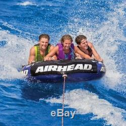 Towable Tube 2 Person Inflatable Water Rider Sports Lake Raft Tow Float Purple