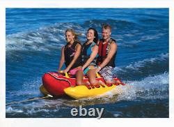 Towable Tube Inflatable 1-3 Person Float Boat Tow River Water Sports Hot Dog