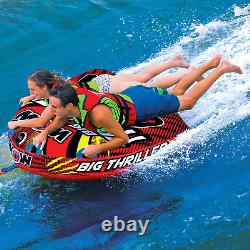 Towable Tube Inflatable Boat Tube, Wild Wake Action Deck Water Tube