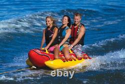 Towable Tube Inflatable Hot Dog Tubing Boat Water Sports Pool Ski Raft Lake Boat