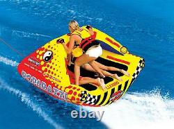 Towable Tube Rider 3 Person Inflatable Ride Boat Float Water Floating Ride River