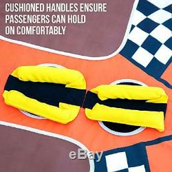 Towable Water Tube 2-Person Inflatable Floating Raft for Boating with Cushion