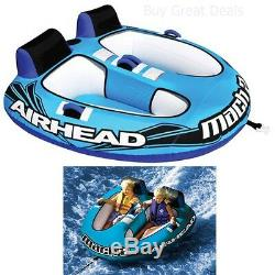 Towable Water Tube Inflatable Boat 2 Person New Ski Tow Raft Float Tubing Sport