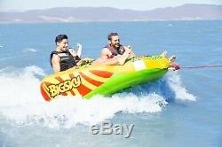 Tube Towable Inflatable Rider 3 Person Water Boat Lake Sports New Watersports Sk
