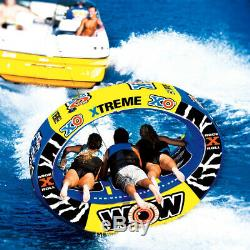 Tube Towable Pulling Boat Water Tube Towables Heavy Duty Tube Inflatable WOW